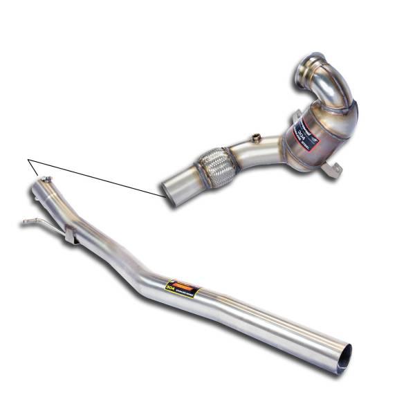 Rohrsatz ab Turbolader mit Sport Metallkatalysator 200 CPSIFür die Serien Mittelschalldämpfer passe