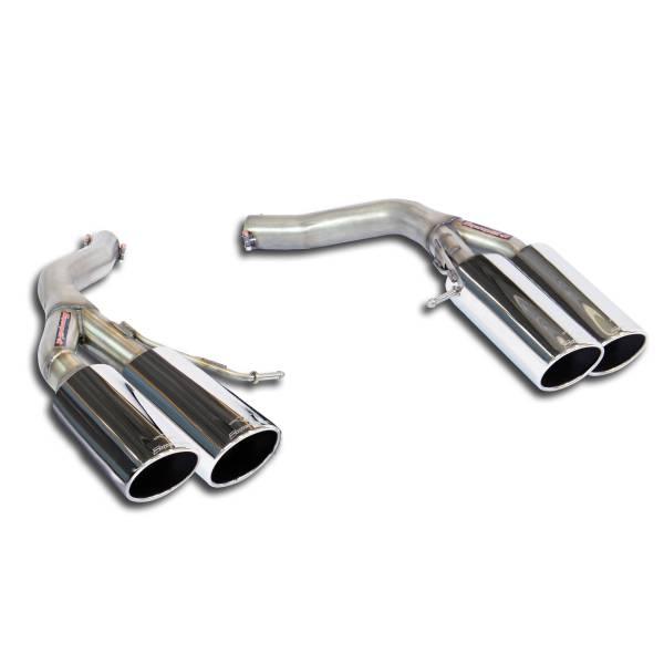 Hinteres Rohr Rechts OO100 + Links OO100(Nachschalldämpfer-Entfall) passend für BMW F06 M6 Gran Cou
