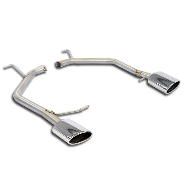 Hinteres Rohr Rechts 145x95 + Links 145x95(Nachschalldämpfer-Entfall) passend für VW GOLF VII Varia
