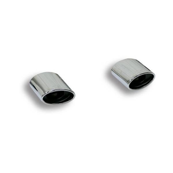 Endrohrsatz Rechts + Links 145x95 passend für VW GOLF VI 2.0 TDI (140 PS) 2009 -> 2012