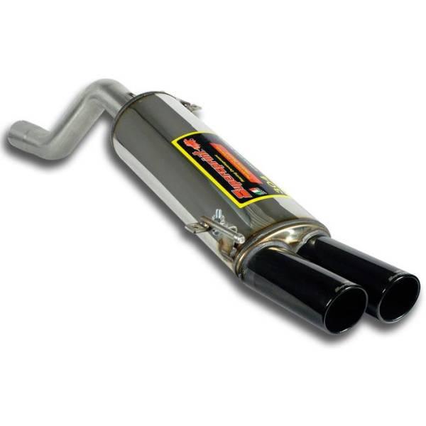 Supersprint Endschalldämpfer OO80SCHWARZ CHROM ENDROHR passend für ALFA ROMEO MiTo 1.4i T 16v (120 P