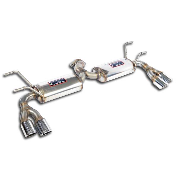 Supersprint Endschalldämpferkit + Endrohrsatz Rechts OO70 + Links OO70 passend für 124 ABARTH Spyder
